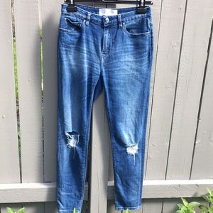 IRO Paris Blue Ripped Skinny Jeans Size 27